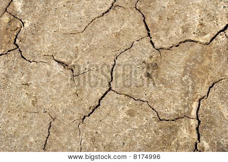background dry parched earth