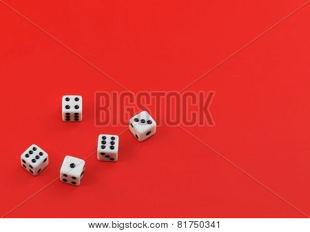 The Dices On Red.