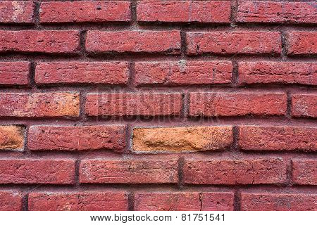 Old Walls Of Brick Red