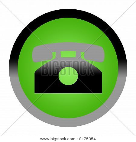 Green Phone Contact Button