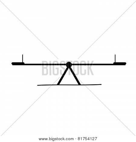 Teeter Black Vector