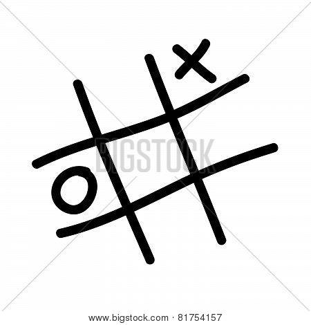 X O Icon Vector