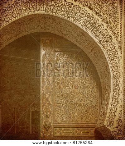 Vintage Image Of Ancient Doors, Morocco