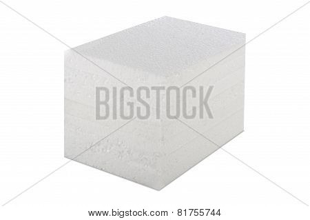 Styrofoam Panel Isolated