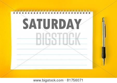 Saturday Calendar Schedule Blank Page