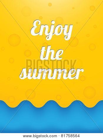 Enjoy The Summer, Beautiful Summer Background