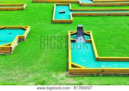 Mini-Golf field.