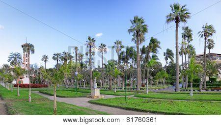 Montaza Park , In Alexandria, Egypt. Panorama.