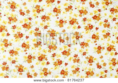 Small floral pattern on fabric.