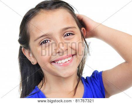 Columbian Little Girl Fun Look