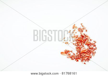 3D Hearts Illustraion With Blank Text Field