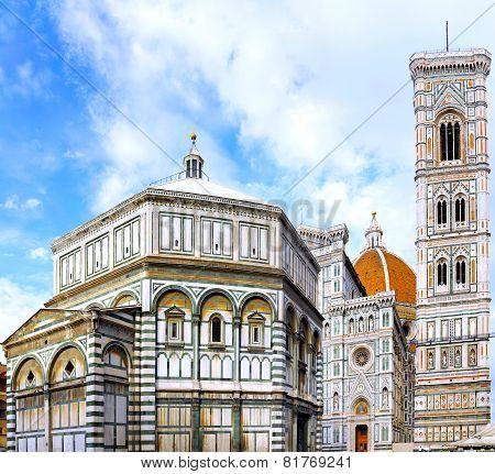 The Basilica Di Santa Croce  Florence, Italy