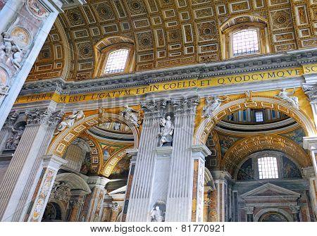 St. Peter's Basilica, . Indoor Interior. Vatican