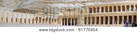 Overview Temple Of Queen Hatshepsut At Luxor
