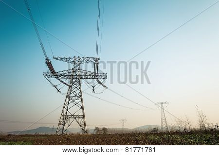 Strong High Voltage Electric Tower