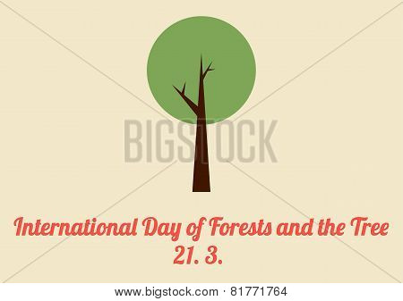 International Day Of Forests And The Tree Card