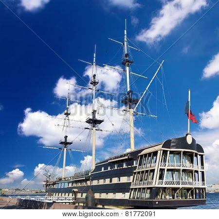 Old frigate