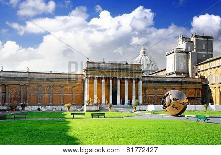 Enclosed Court Gallery's Of Vatican, Rome