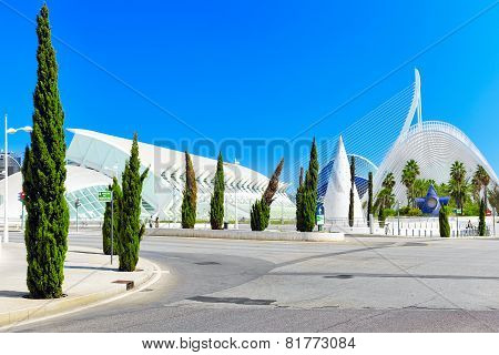 VALENCIA,SPAIN-SEPT 10:City of Arts and Sciences. September 10, 2014 in Valencia.