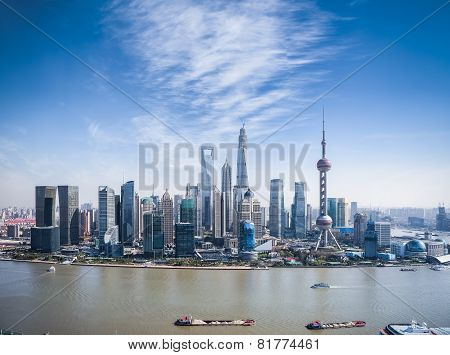 A Bird's Eye View Of Shanghai Skyline