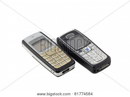 Antiques, Old Cellular(mobile) Phones. Isolated
