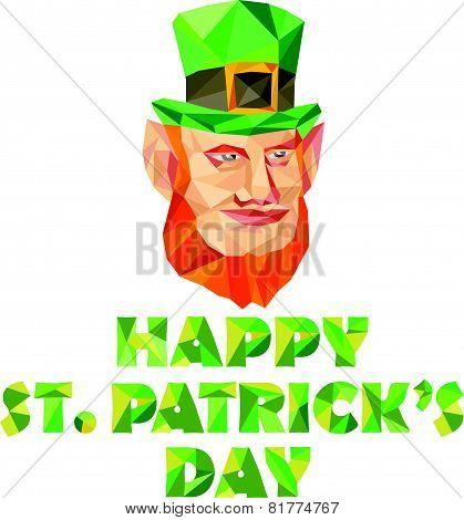 Leprechaun St Patrick's Day Low Polygon