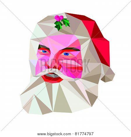 Santa Claus Father Christmas Low Polygon
