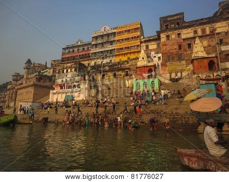 Ganges Holy Bath In Varanasi