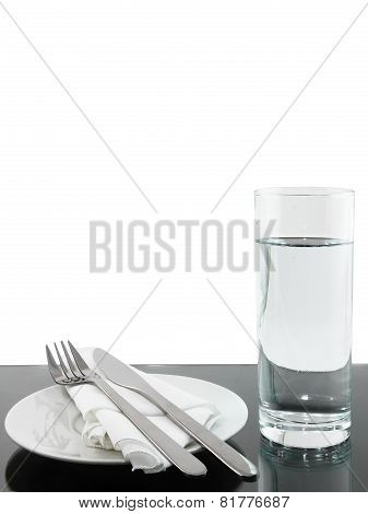 Table Appointment-dishware On White Background.