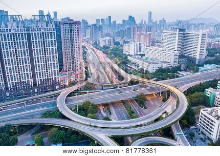 Interchange Road And Modern City