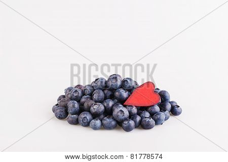 Blueberry and heart