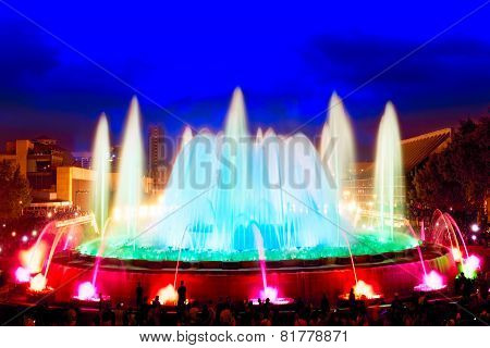 The famous Montjuic Fountain.