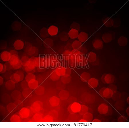 Red Bokeh as Background