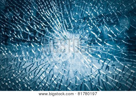 Broken Tempered Glass Background
