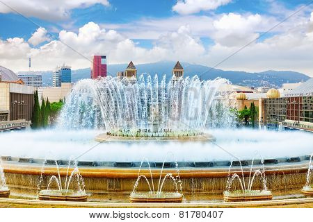 Fountain of Montjuic.