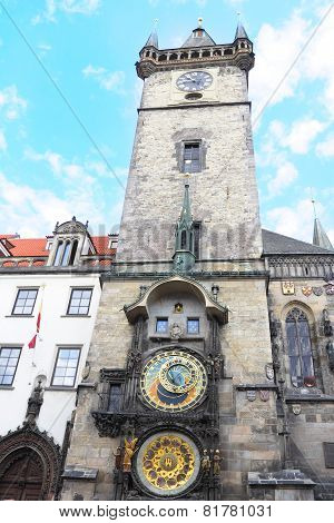 Tower And Clock On Staromestska Square, Prague