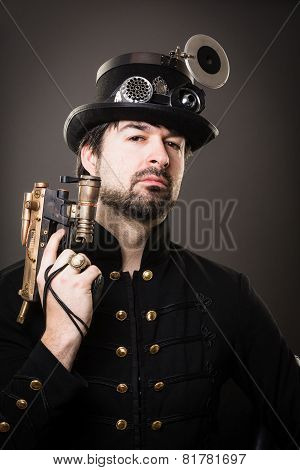 Armed Steam Punk Man