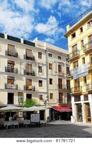 VALENCIA, SPAIN - SEPT 10: Cityscape of Valencia. September 10, 2014 in Valencia, Spain