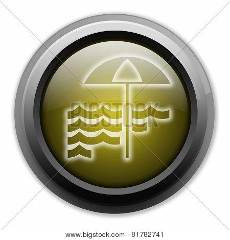 Icon, Button, Pictogram Beach