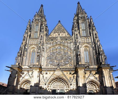 Cathedral Of St. Vitus, Vaclav And Voiteha. Prague