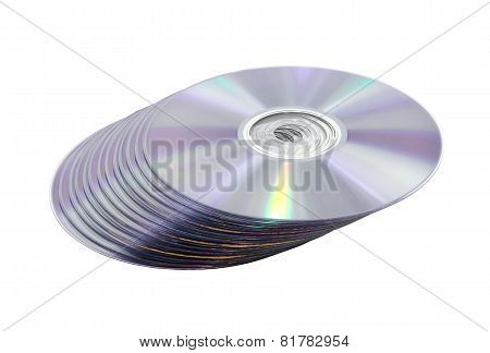 Pile Of Dvd(cd) Discs.