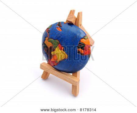 Globe On Easel