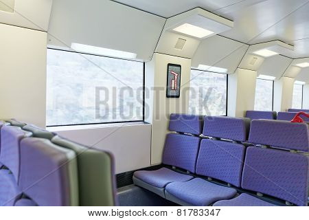 Interior of the  train .