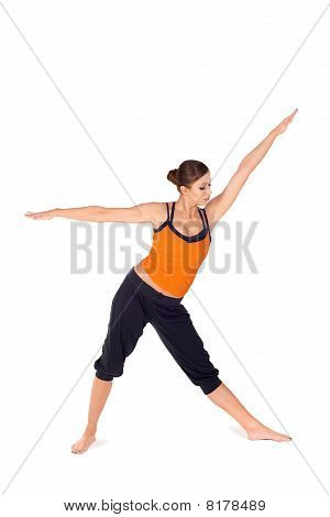 Fit Attractive Woman Practicing Yoga