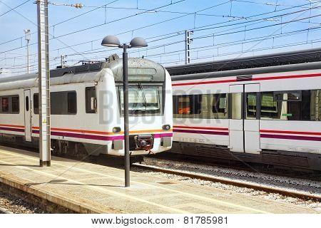 Suburban railway train.