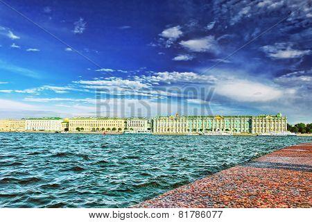 View Of Saint Petersburg From Neva River.
