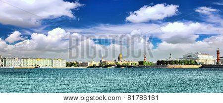 View Of Saint Petersburg From Neva River.panorama.