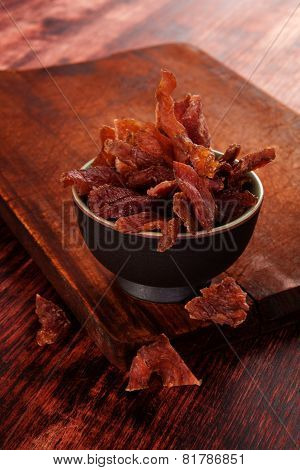 Beef Jerky Background.