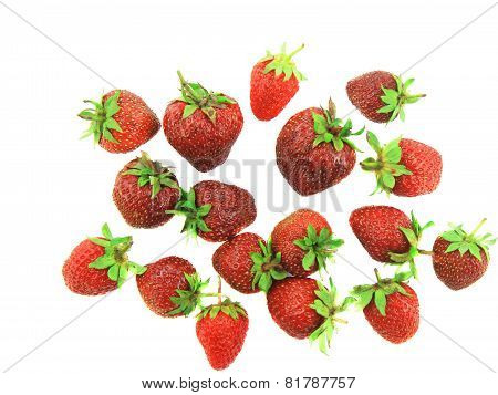 A Heap Of Fresh Strawberries On White.isolated