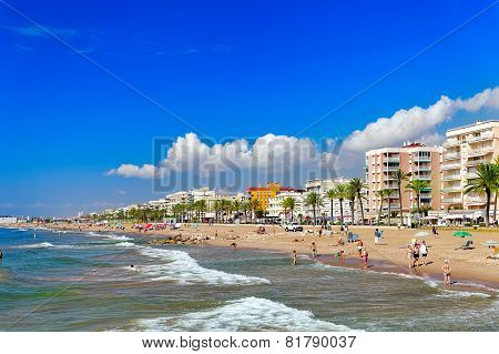 SEGUR DE KALAFEL , SPAIN - SEPT 09: Seafront, beach,coast in Segur De Calafe